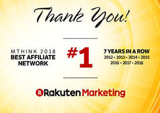 Thank You for Making Rakuten Marketing the #1 Affiliate Network for the 7th Year in a Row!
