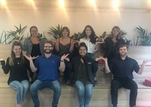Members of the Rakuten Marketing APAC team strike the #BalanceforBetter pose