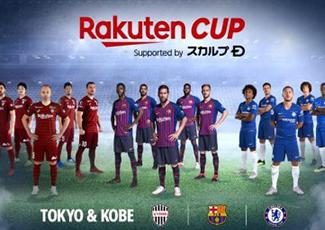 """Rakuten anuncia """"Rakuten Cup"""" com as equipes principais do Barcelona e Chelsea"""