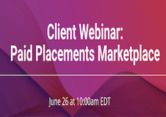 Webinar: Placements Marketplace