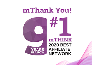 Thank you for making us the #1 affiliate network for the 9th year