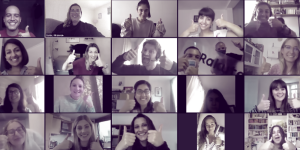 Rakuten Advertising team virtually celebrating their PMA wins